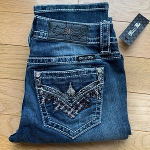 NWT Miss Me Straight leg jeans size 26